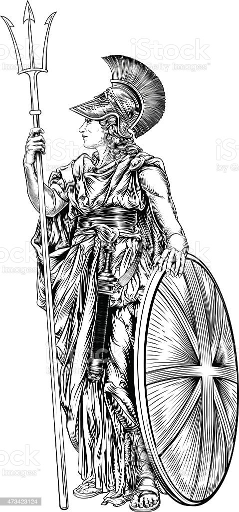Britannia Illustration vector art illustration
