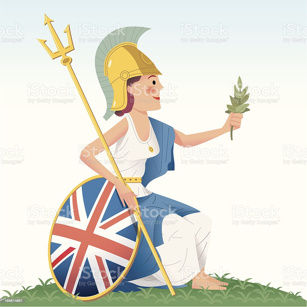 Britannia -  She's on the money! vector art illustration