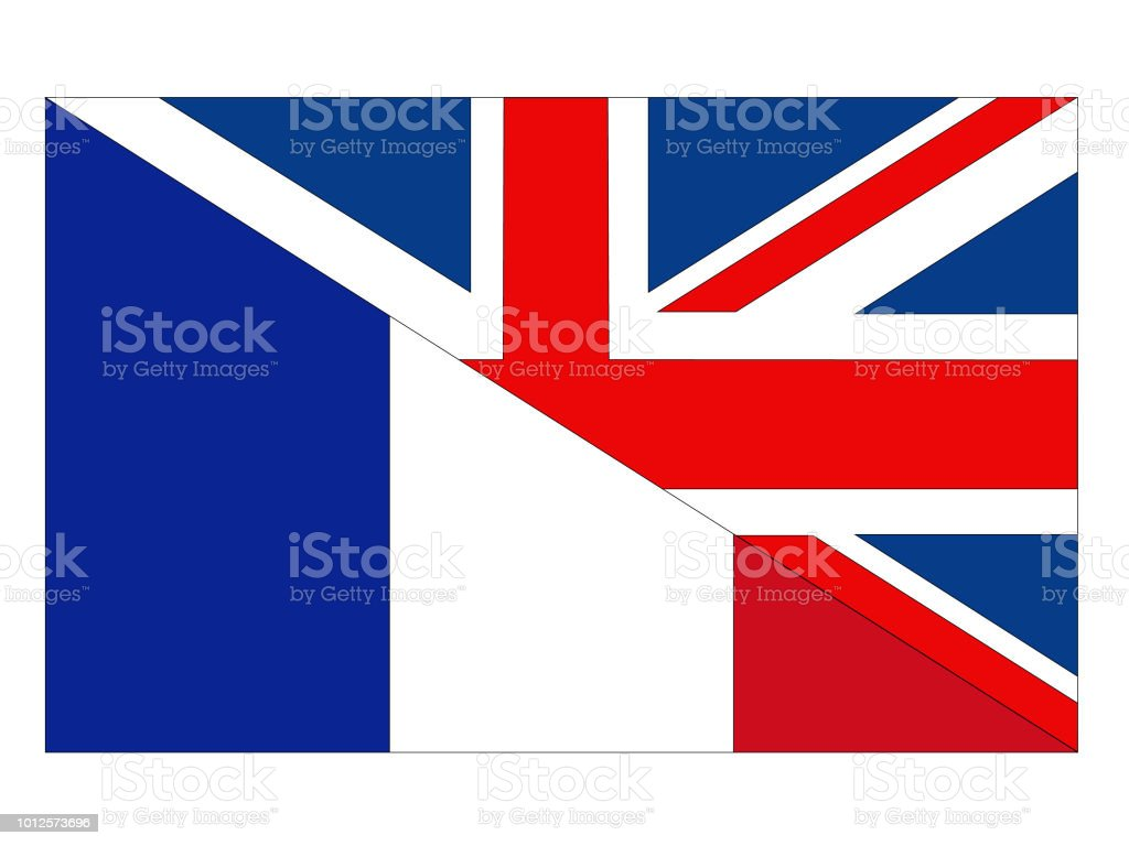 British And French Flags Stock Vector Art More Images Of Agreement