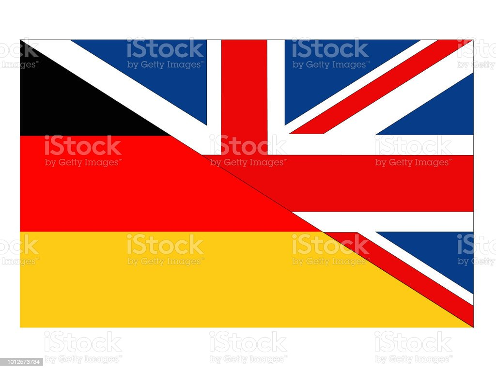 British And German Flags Stock Illustration - Download Image
