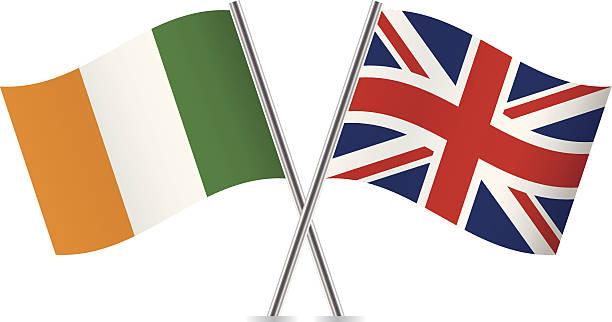 ilustraciones, imágenes clip art, dibujos animados e iconos de stock de british and irish flags.  vector. - bandera irlandesa