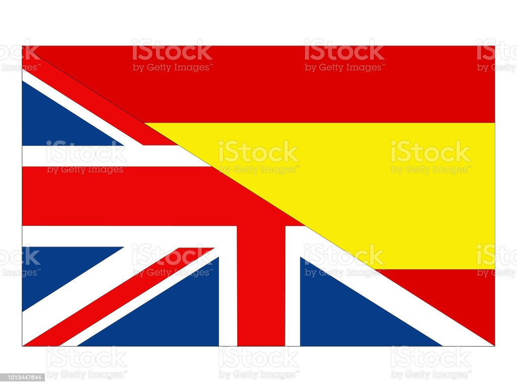 british and spanish flags stock vector art more images of banner