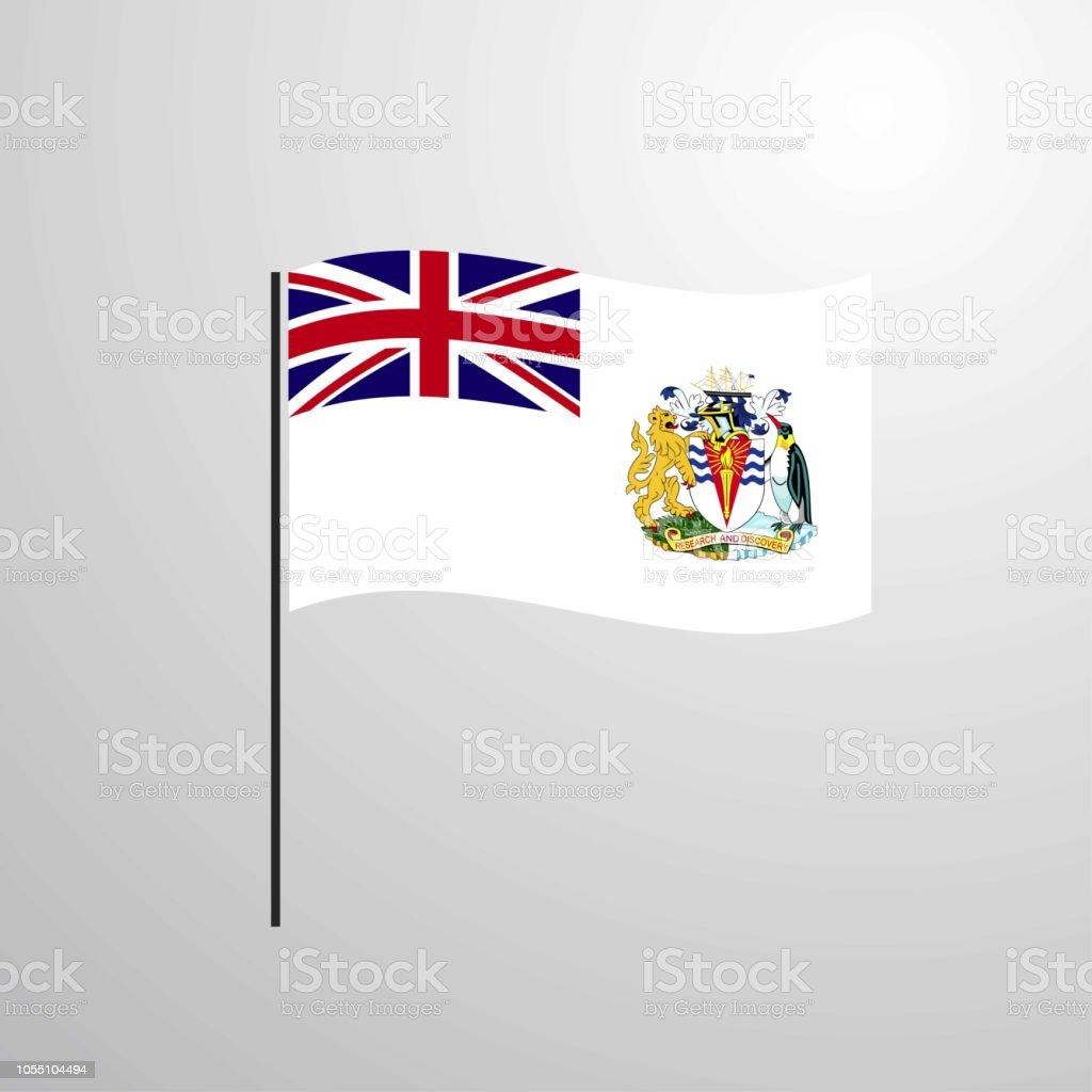 イギリス領南極地域の旗を振って - アイコンのベクターアート素材や ...