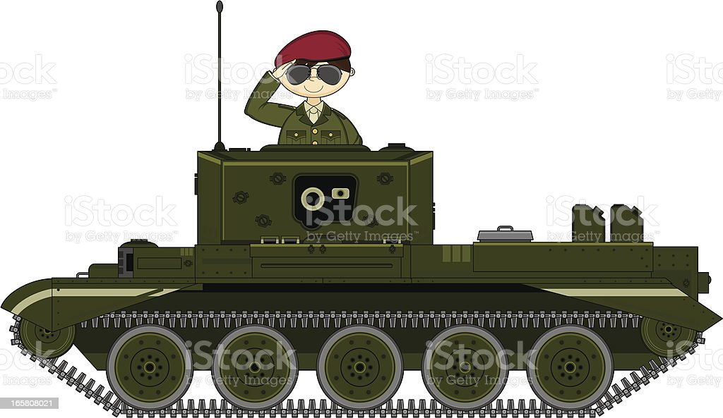 British Army Soldier Saluting in Tank royalty-free british army soldier saluting in tank stock vector art & more images of adult