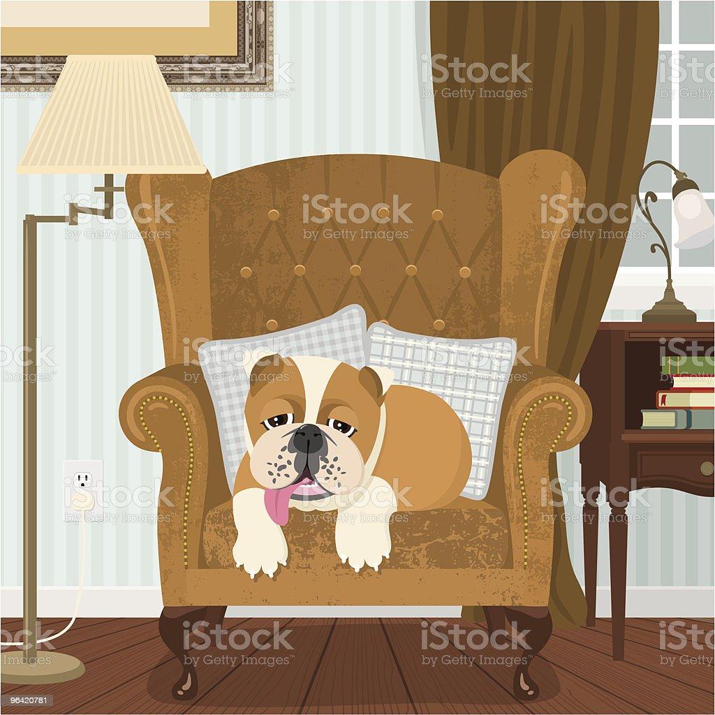 British bulldog vector art illustration