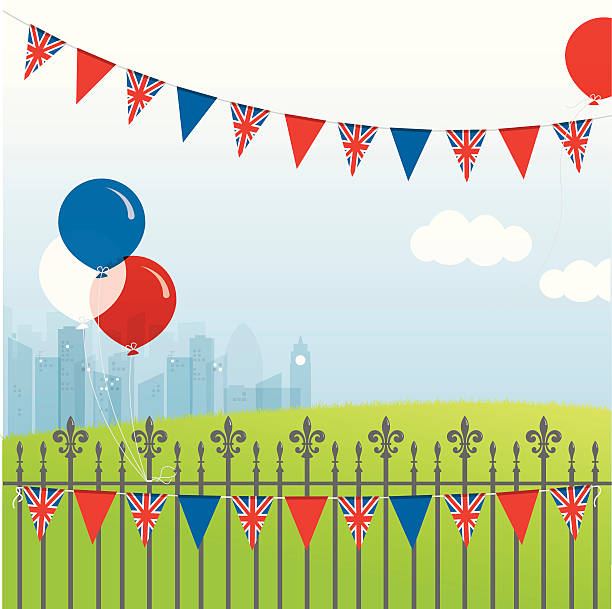 ilustraciones, imágenes clip art, dibujos animados e iconos de stock de british celebración - bandera británica