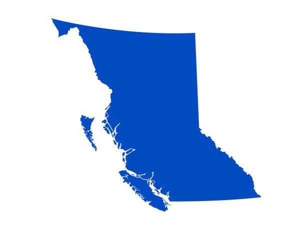 British Columbia map vector illustration of British Columbia map british columbia stock illustrations