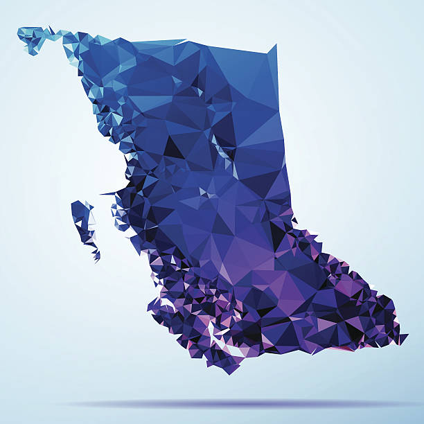 British Columbia Polygon Triangle Map Blue Abstract Polygon Triangle vector map of British Columbia, Canada. File was created in DMesh Pro and Adobe Illustrator on October 21, 2014. The colors in the .eps-file are in RGB. Transparencies used. Included files are EPS (v10) and Hi-Res JPG (5035 x 5035 px). map crystal stock illustrations
