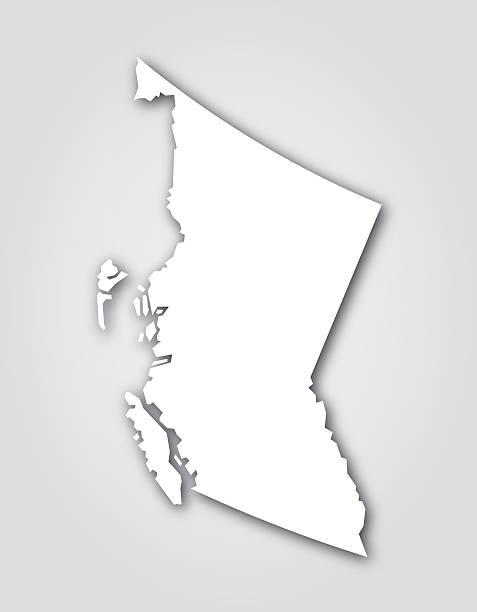 British Columbia Silhouette White vector art illustration