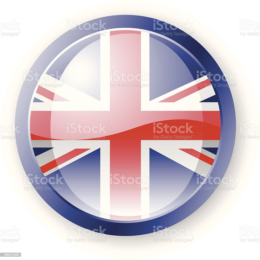 British Flag Icon royalty-free stock vector art