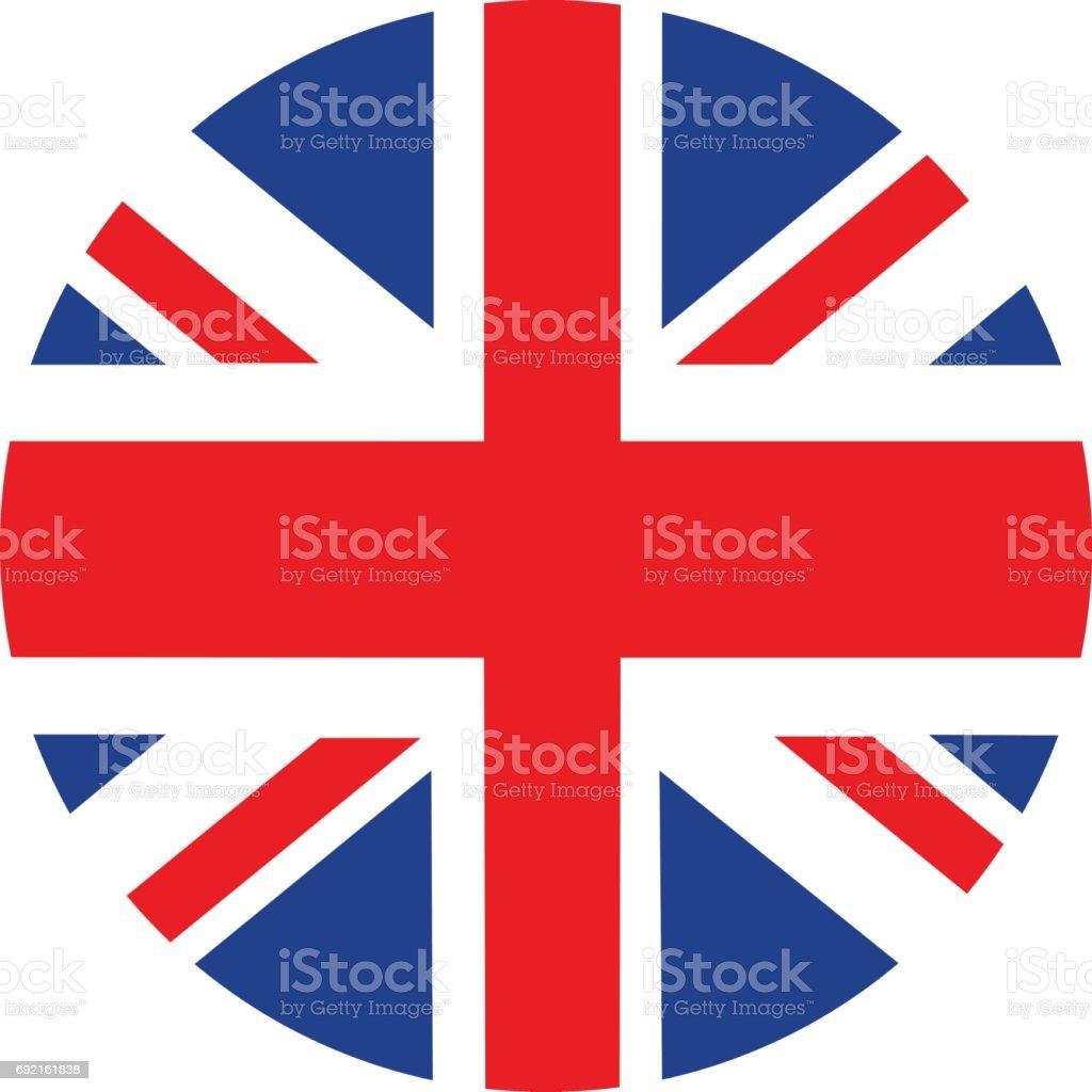 Bandeira britânica - ilustração de arte em vetor