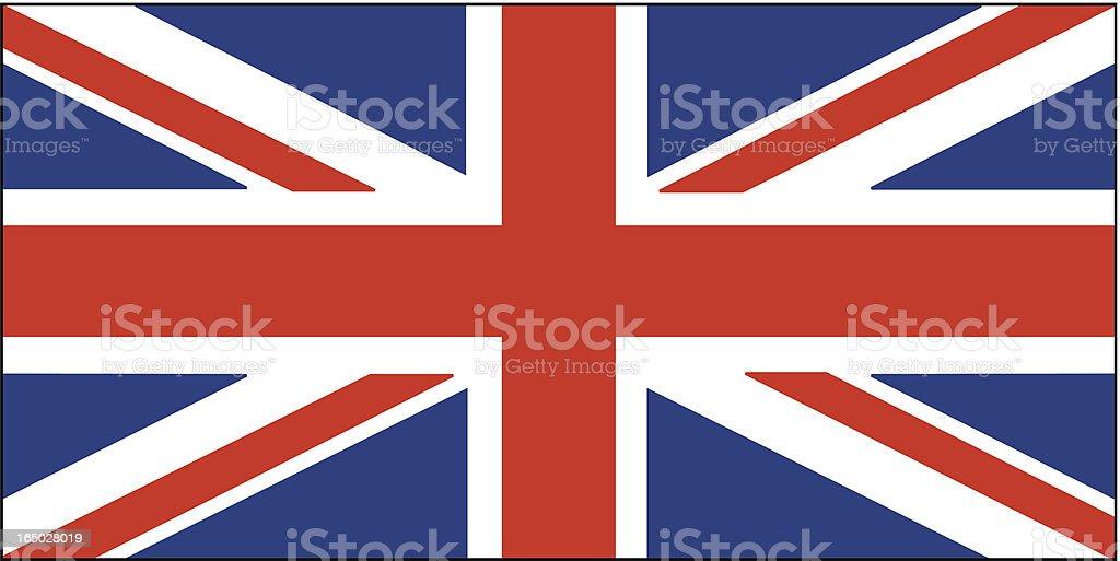 British Flag vector vector art illustration