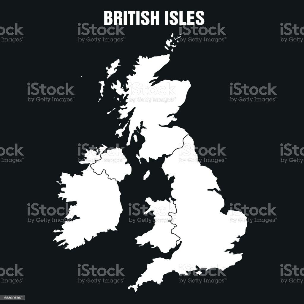 British Isles Map - Illustration vector art illustration
