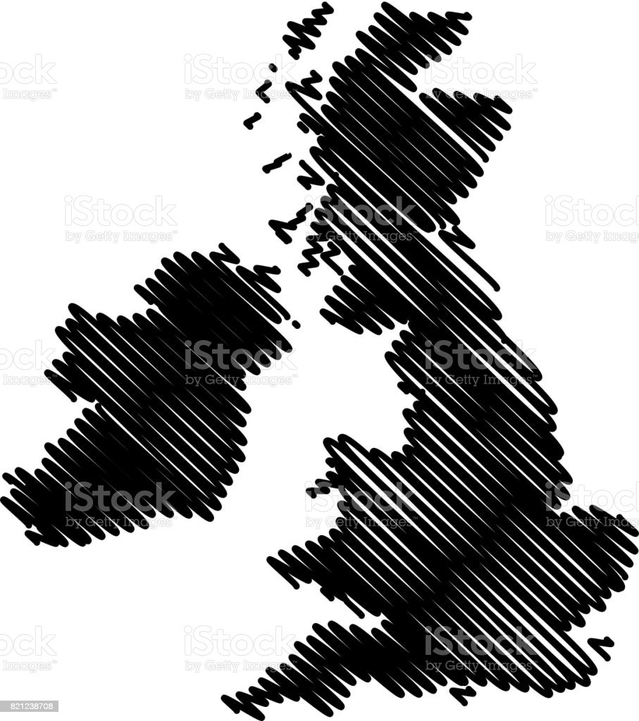 British Isles map vector vector art illustration