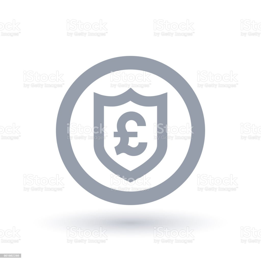 British Pound Shield Symbol Great Britain Currency Security Icon