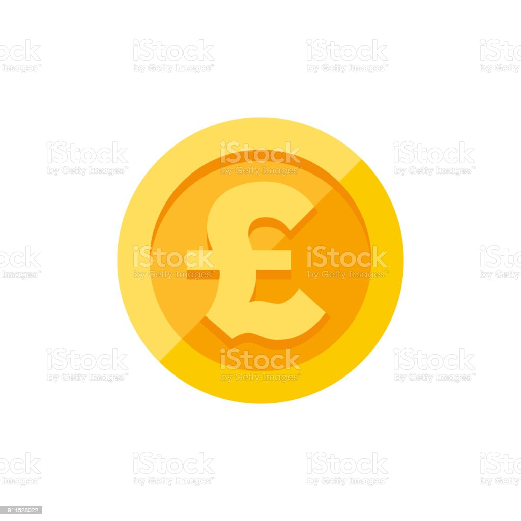 British pound sterling symbol on gold coin flat style stock vector british pound sterling symbol on gold coin flat style royalty free british pound sterling symbol biocorpaavc Gallery