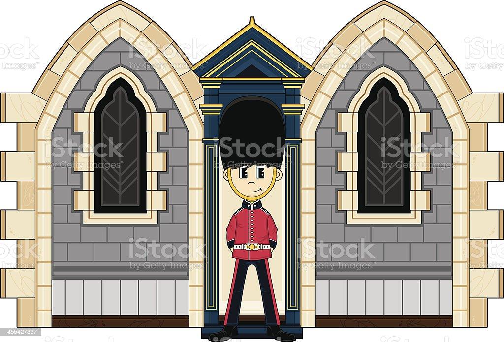 British Royal Guard at the Palace royalty-free stock vector art