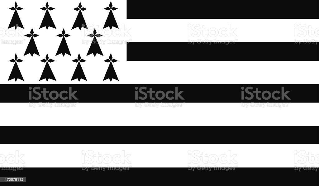 Brittany drapeau - Illustration vectorielle