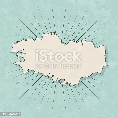 istock Brittany map in retro vintage style - Old textured paper 1273448237