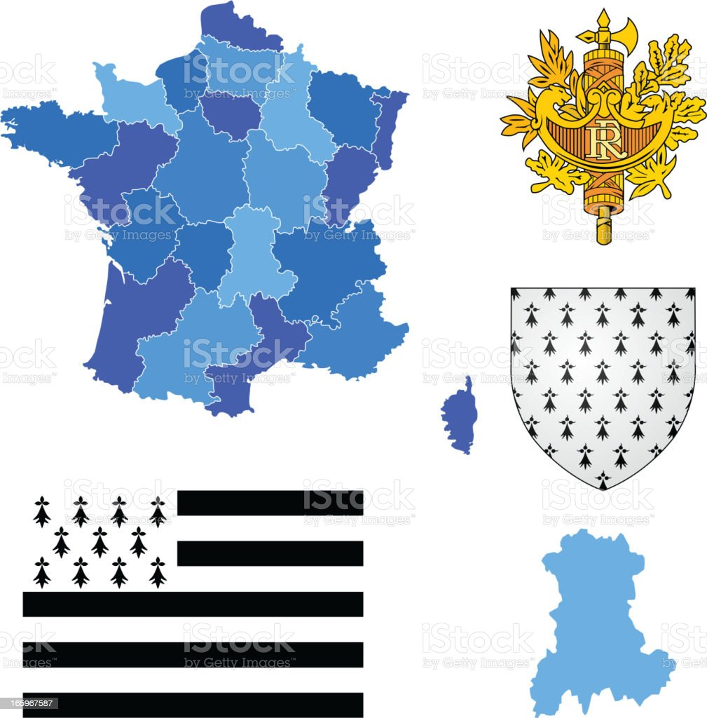 Brittany région ensemble - Illustration vectorielle