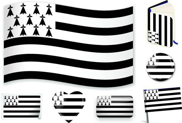 illustrations, cliparts, dessins animés et icônes de drapeau de bretagne - bretagne