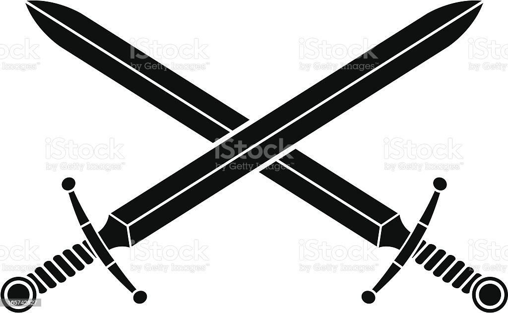 Broad swords royalty-free broad swords stock vector art & more images of black color