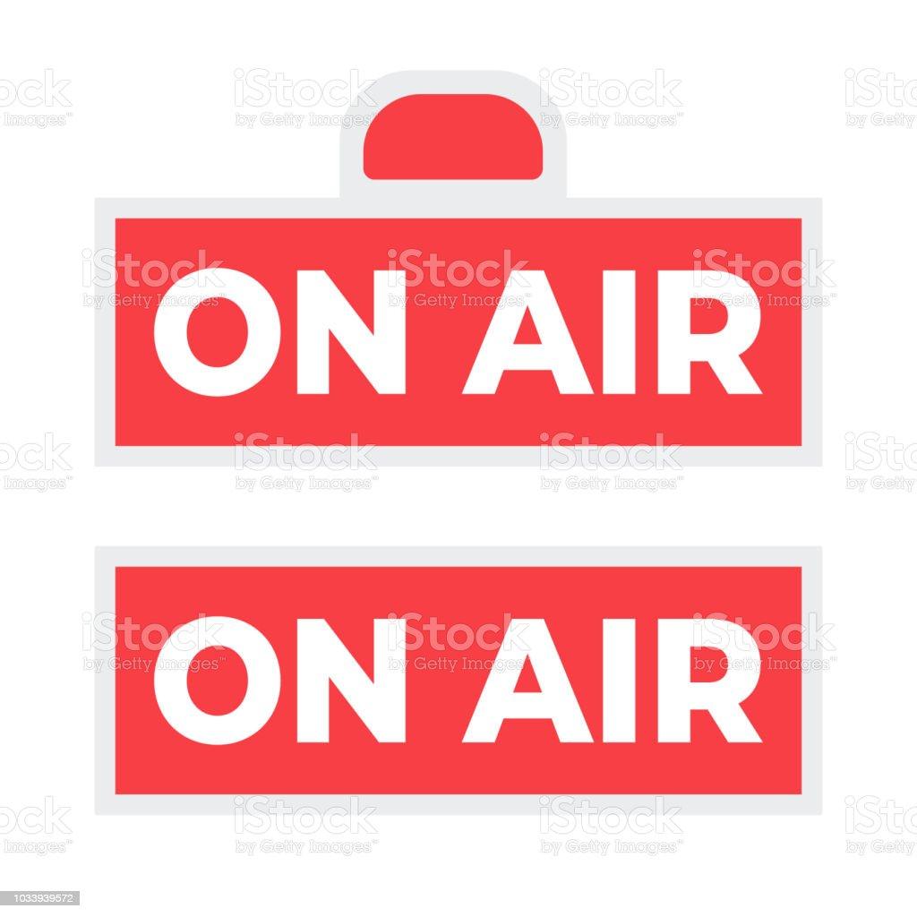 broadcast studio on air light onair sign radio and television stock
