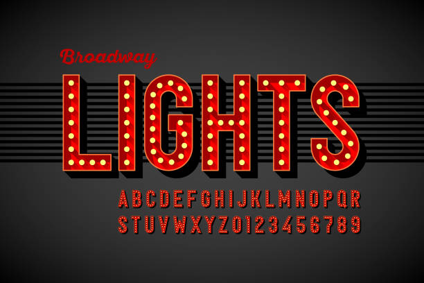Broadway lights retro style font