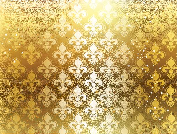 brocade background - mardi gras stock illustrations, clip art, cartoons, & icons