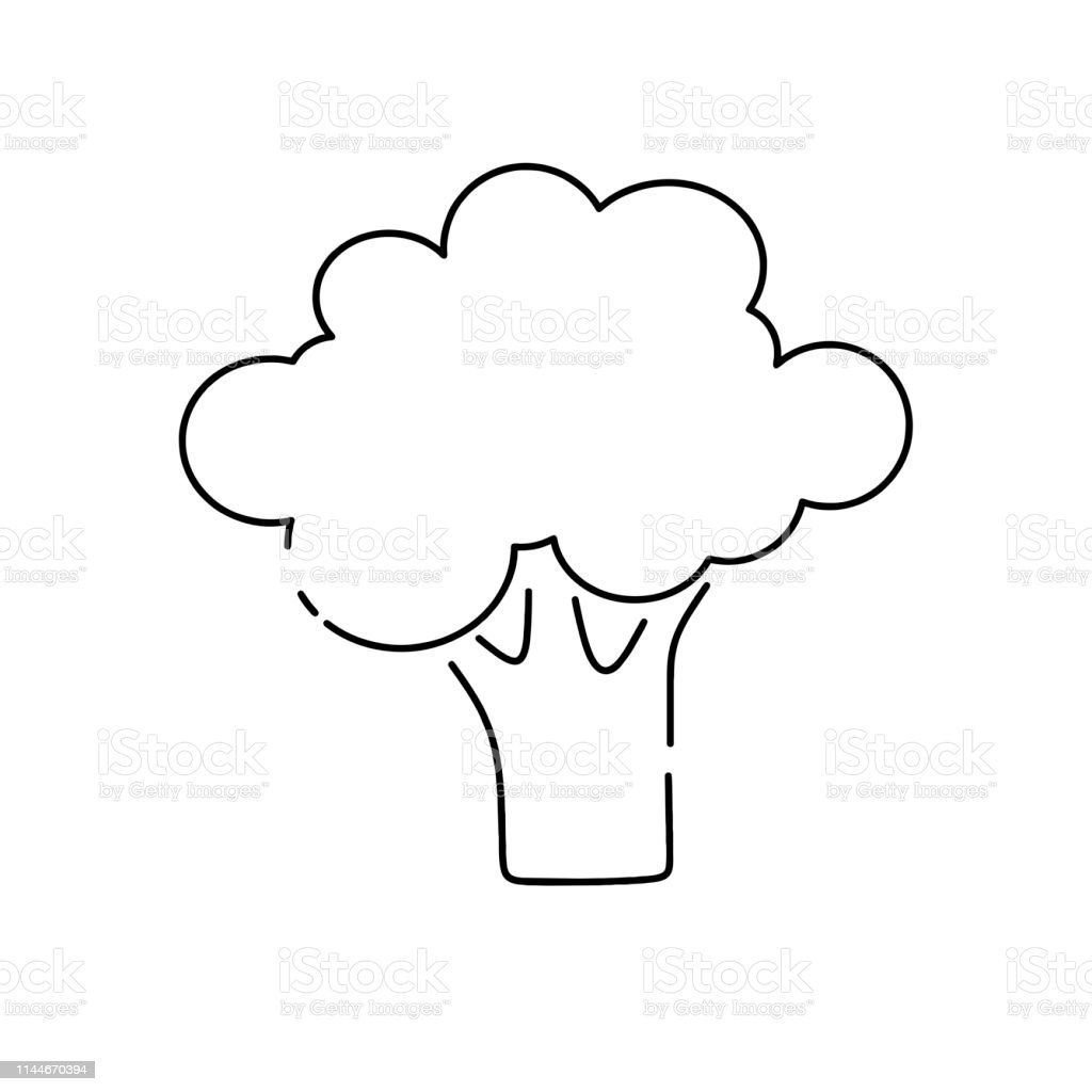 broccoli line icon outline vector sign vector illustration on white background stock illustration download image now istock https www istockphoto com vector broccoli line icon outline vector sign vector illustration on white background gm1144670394 307839248