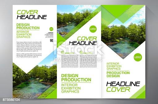 istock Brochure 3 fold flyer design a4 template. 873586104
