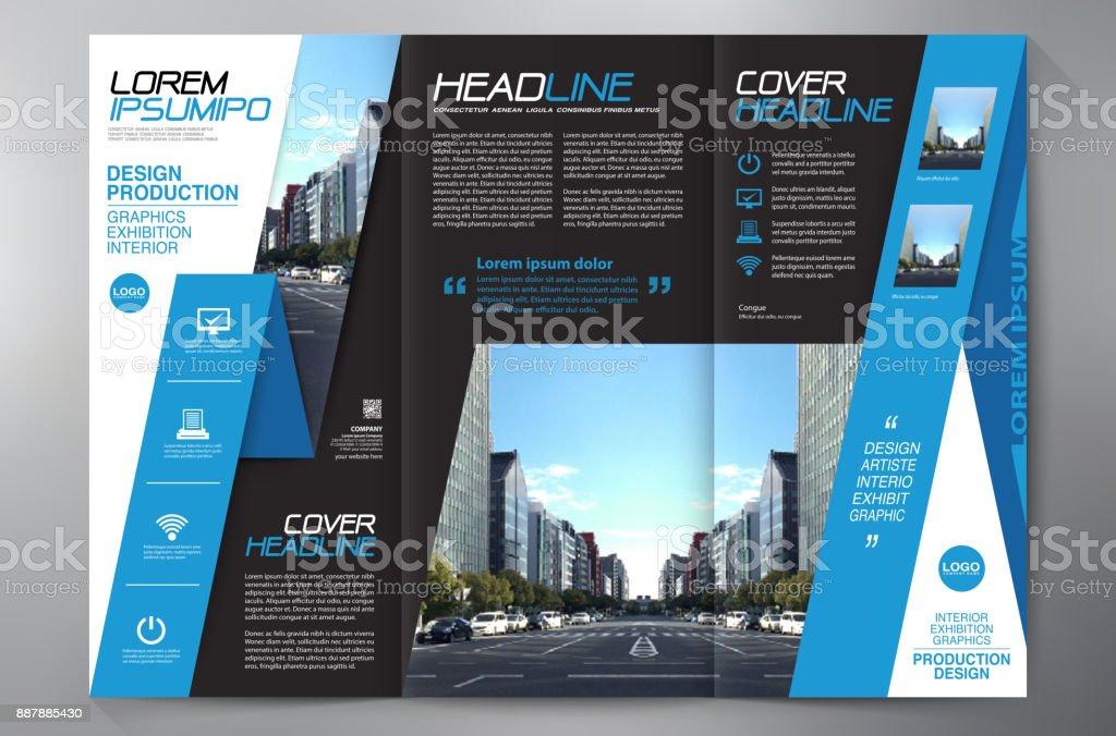 Brochure 3 Fold Flyer Design A4 Template Stock Illustration