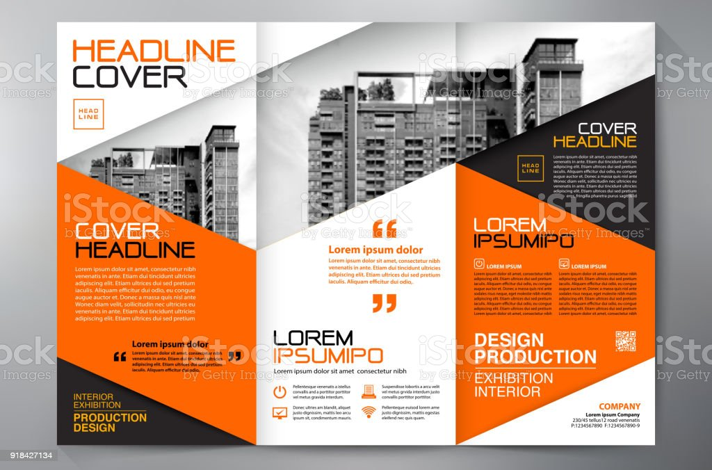 brochure 3 fold flyer design a4 template stock vector art more