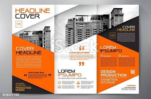 istock Brochure 3 fold flyer design a4 template. 918427134