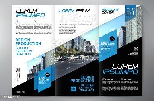 istock Brochure 3 fold flyer design a4 template. 990052220