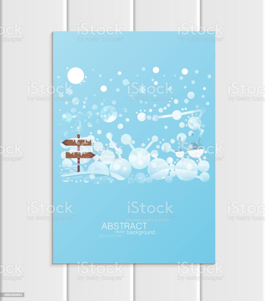 Ilustración de Folleto A5 O A4 Formato Diseño Plantilla Navidad ...