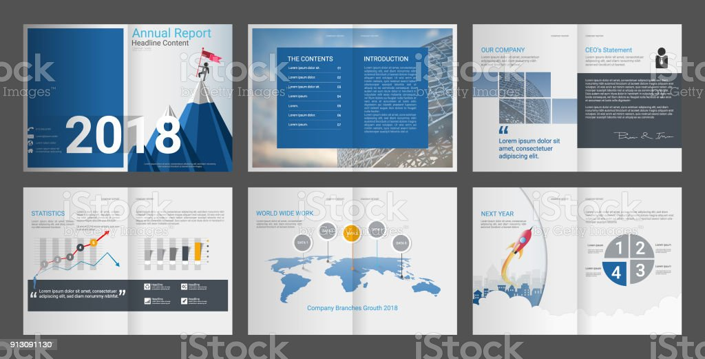 Brochure annual report, Company profile is Clean & Professional, Create your company's documentation quick and easy, The template comes with business infographics data report chart (A4 & Letter size)