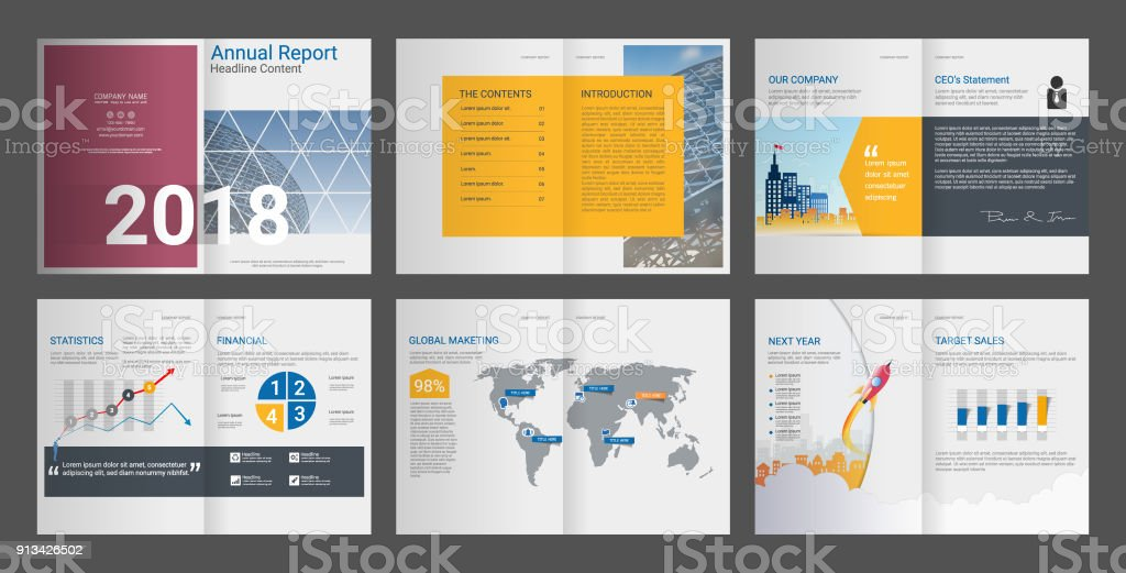 brochure annual report company profile is clean professional create