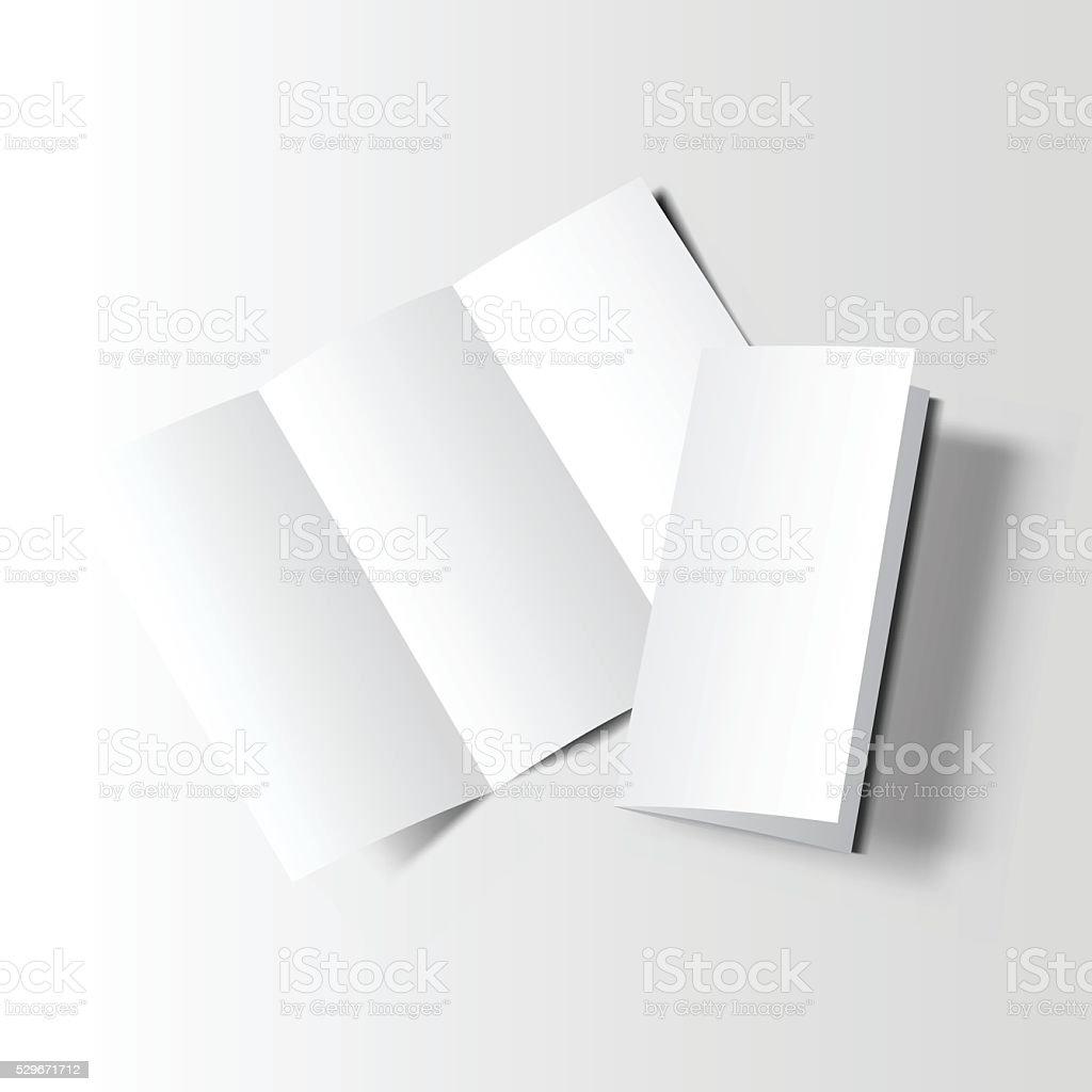 Broschüre Blanko Mockup Zwei Stock Vektor Art und mehr Bilder von ...