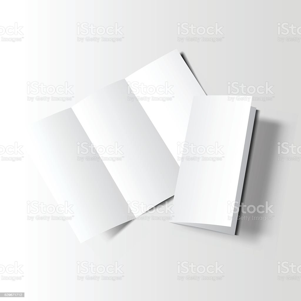 Brochure blank mockup two vector art illustration