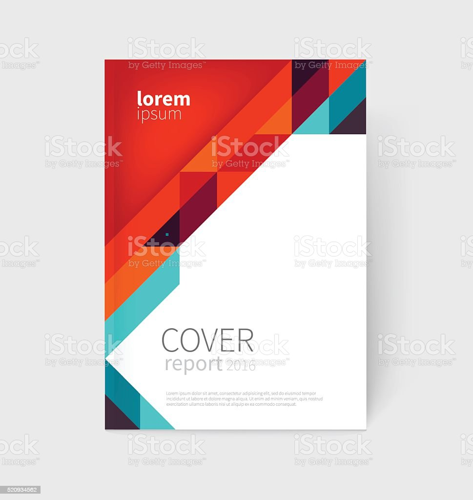 Brochure, business card, flyer, annual report cover template vector art illustration