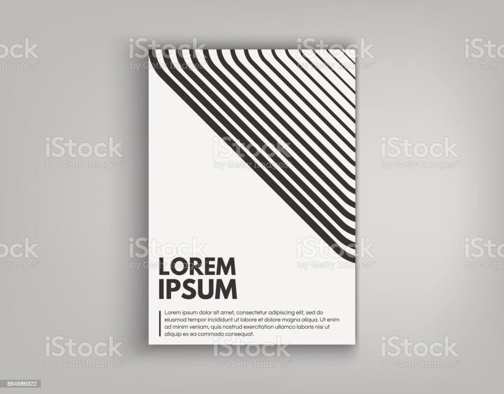 Brochure De La Couverture Conception Cartes Isoles Design Plat Faon Dynamique Affiche