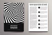 Brochure cover design concept. Zebra abstract stripes illustration