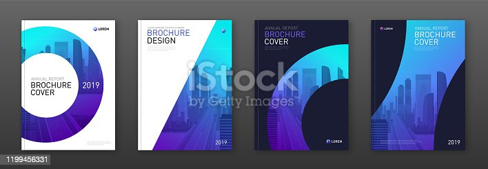 istock Brochure cover design layout set for business 1199456331