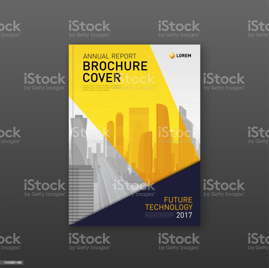 brochure cover design template for construction or finance company