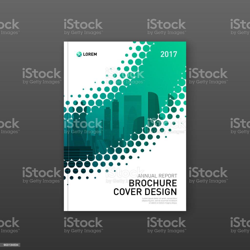 Broschüre Cover Designvorlage Für Bau Oder Technologieunternehmen ...