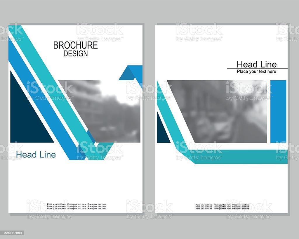 brochure cover design vector art illustration