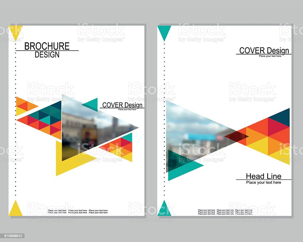 Brochure cover design stock vector art more images of for Brochure cover designs