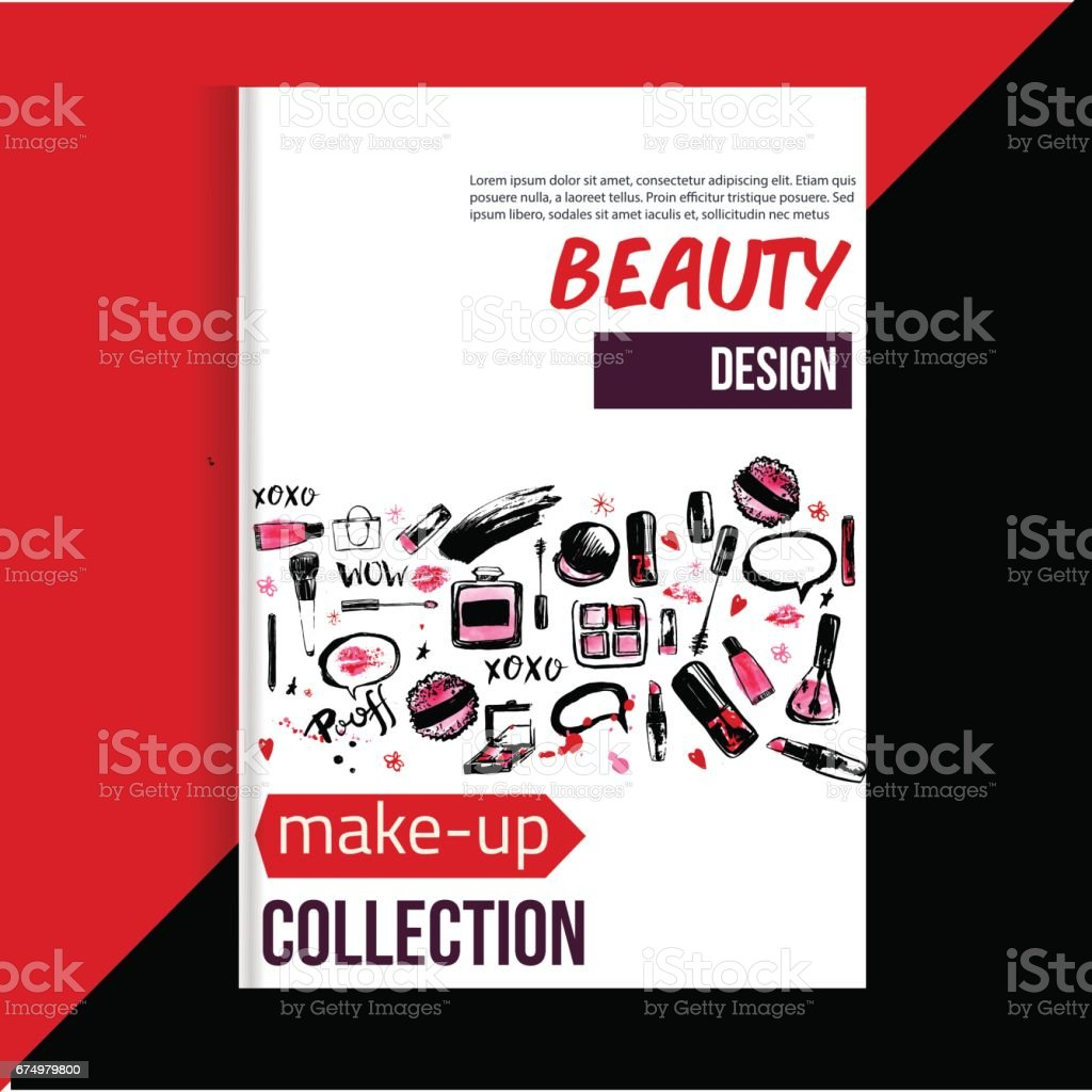 Brochure Cover Template For Makeup Artist Studio Business Card Brochure And Flyer Stock Vector Art More Images Of Arts Culture And Entertainment