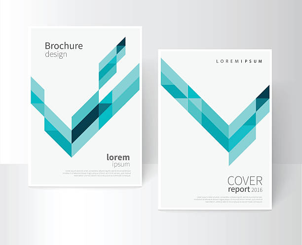 illustrations, cliparts, dessins animés et icônes de modèle de brochure de la couverture - business card mock up